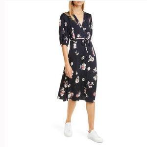 Nordstrom Signature Silk Floral Button-up Dress
